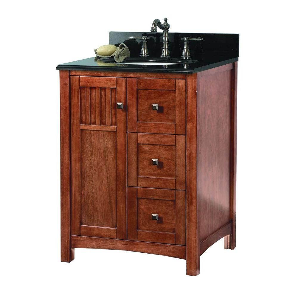 Knoxville 25 in. W x 22 in. D Vanity in Nutmeg