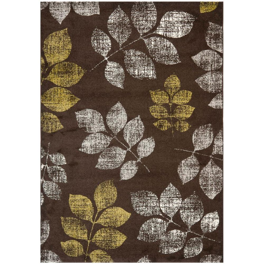 Porcello Brown/Green 4 ft. x 5 ft. 7 in. Area Rug