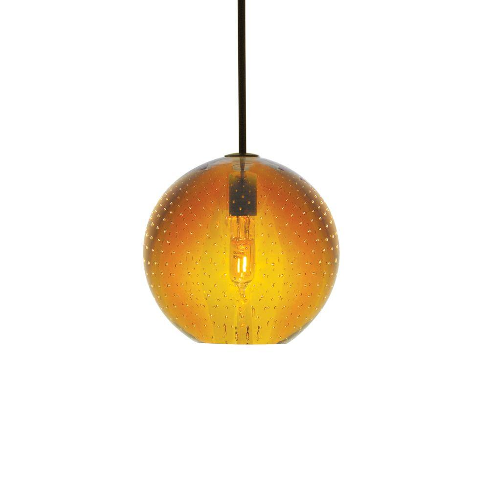 LBL Lighting Bulle 1-Light Amber Bronze Hanging Mini Pendant-HS348AMBZ1B35MPT -