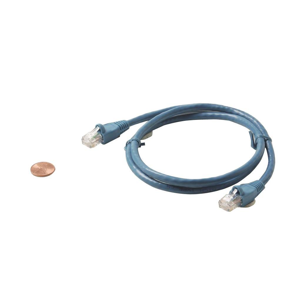 3 ft. Molded Cat5E UTP Patch Cord - Blue