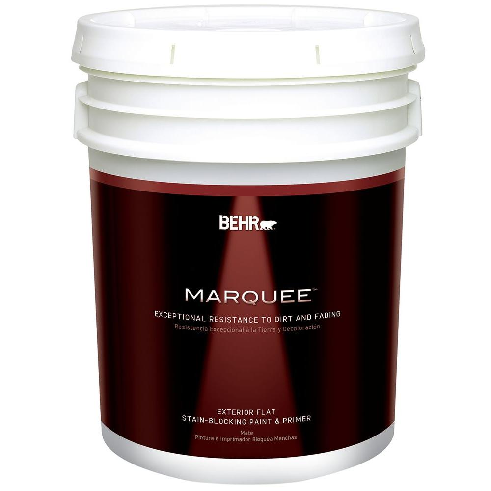 BEHR MARQUEE 5-gal. Medium Base Flat Exterior Paint-445405 - The Home