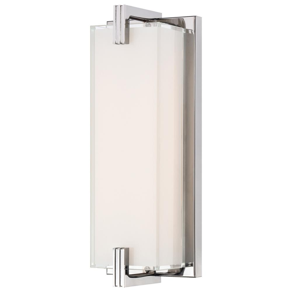 Cubism 20-Watt Chrome Integrated LED Wall Sconce