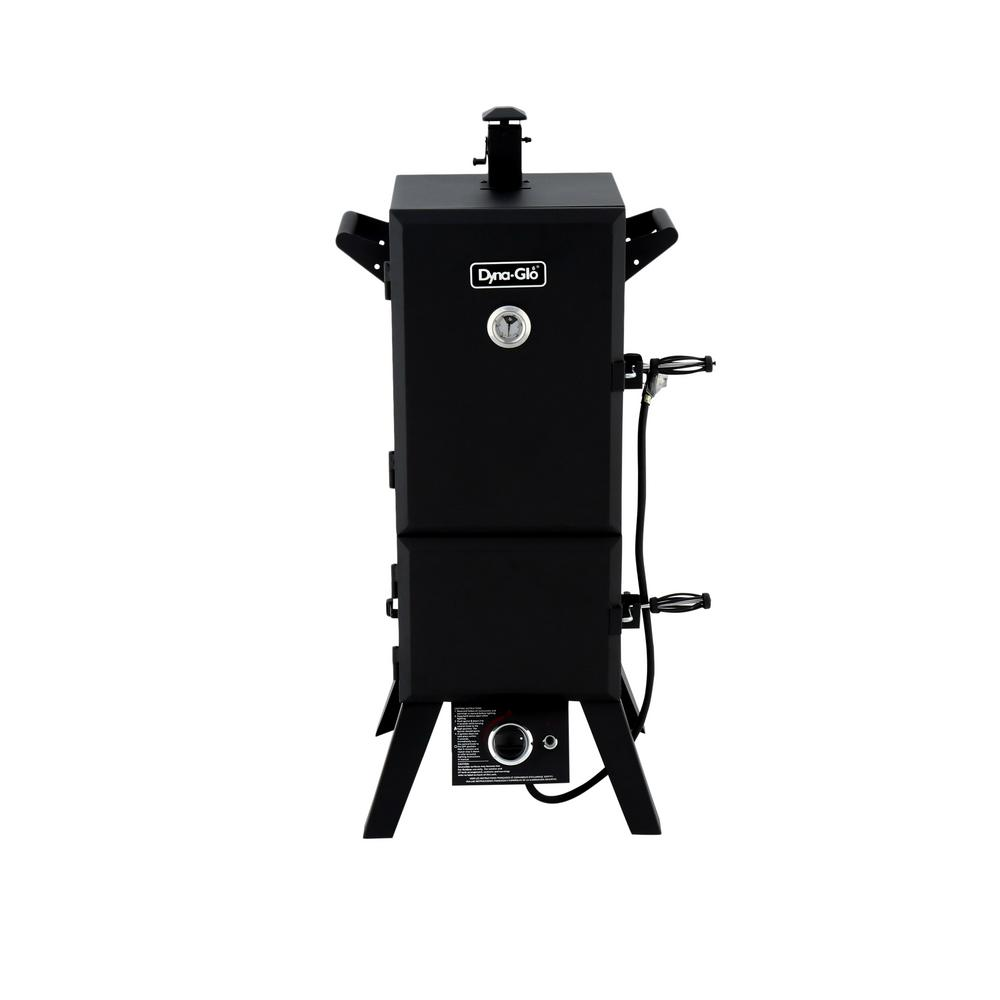 36 in. Vertical Double Door Propane Gas Smoker