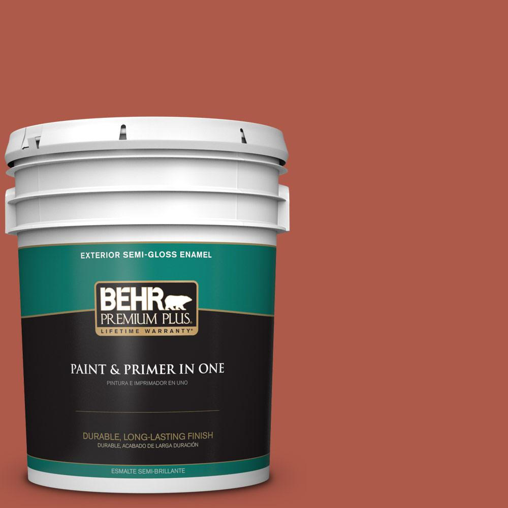 5 gal. #PPU2-14 Tibetan Orange Semi-Gloss Enamel Exterior Paint