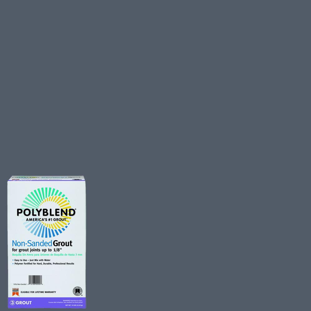 Custom Building Products Polyblend #19 Pewter 10 lb. Non-Sanded Grout-PBG1910 -