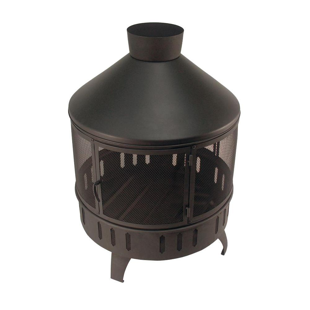 Catalina Creations Augusta Fire Pit, Black