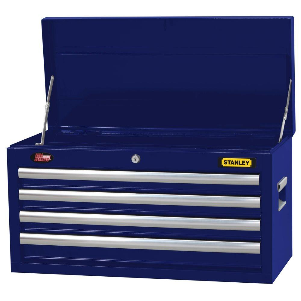 Stanley 26 in. 4-Drawer Tool Chest in Wide Blue