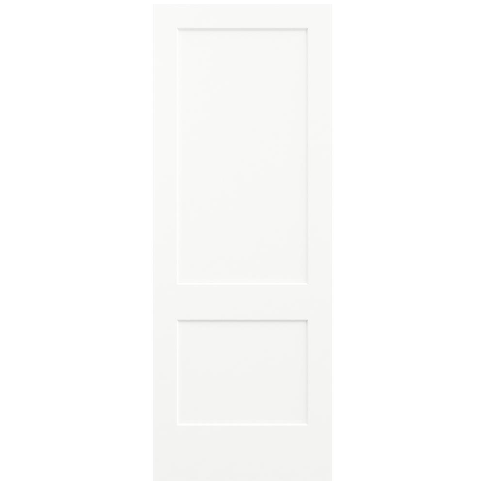JELD-WEN 36 in. x 96 in. Smooth 2-Panel Brilliant White Solid Core Molded Composite Interior Door Slab