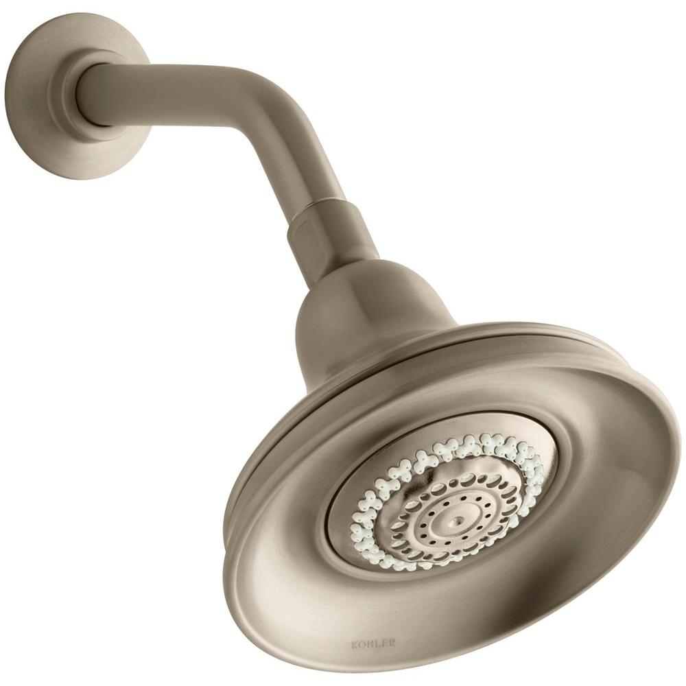 Bancroft 3-spray Multifunction 5-15/16 in. Raincan Multi-Functional Showerhead