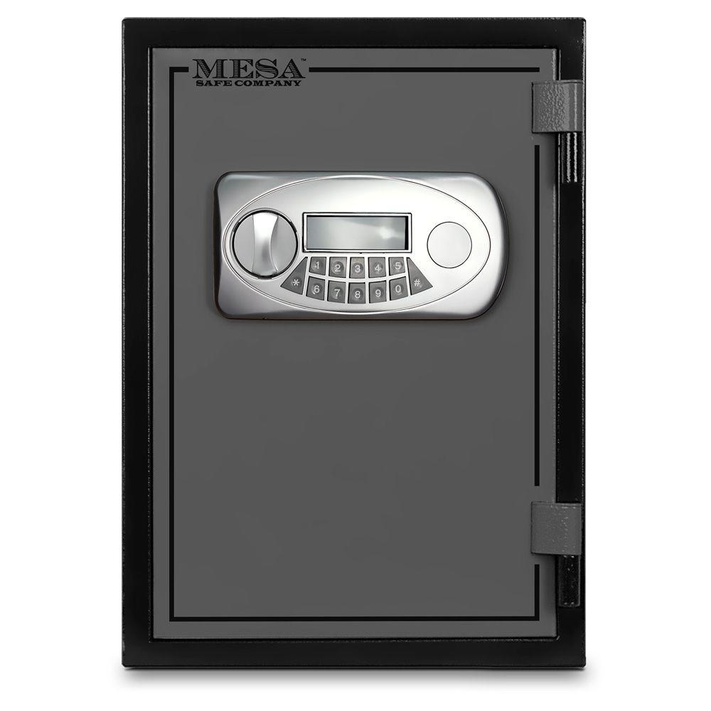 MESA 0.5 cu. ft. U.L. Classified All Steel Fire Safe with Electronic Lock in 2-Tone Black and Grey