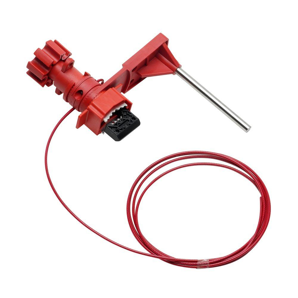 Brady Small Universal Valve Lockout with Sheathed Cable and Blocking Arm