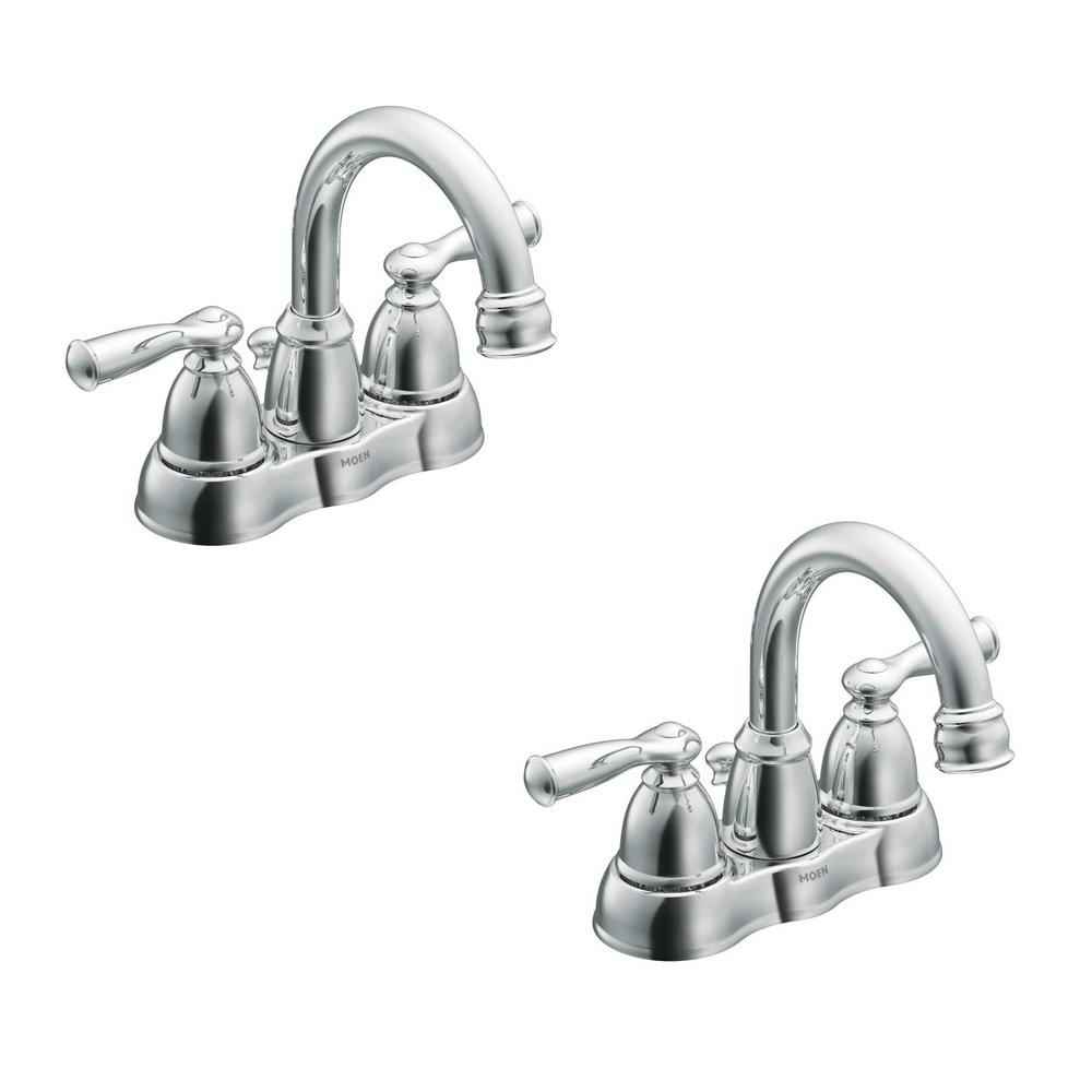 Banbury 4 in. Centerset 2-Handle Bathroom Faucet in Chrome (2-Pack)