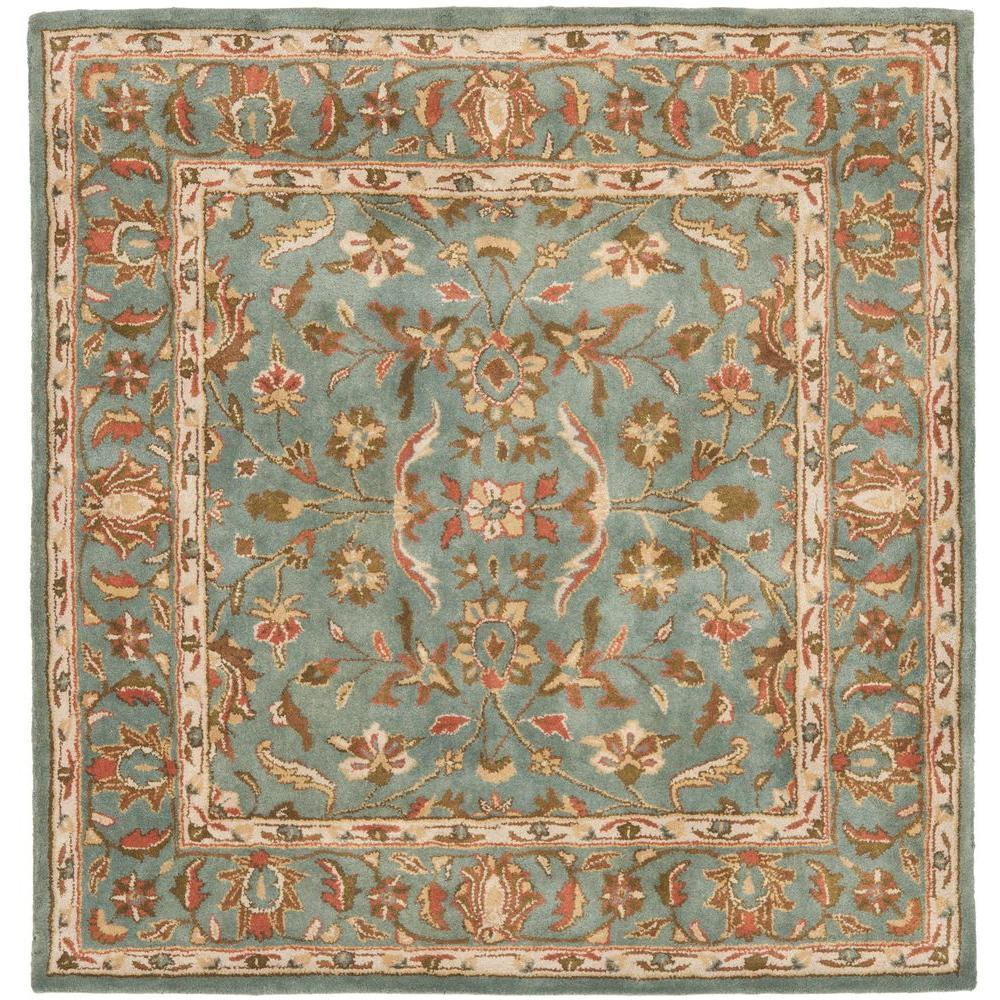 Safavieh Heritage Blue 6 Ft X 6 Ft Square Area Rug
