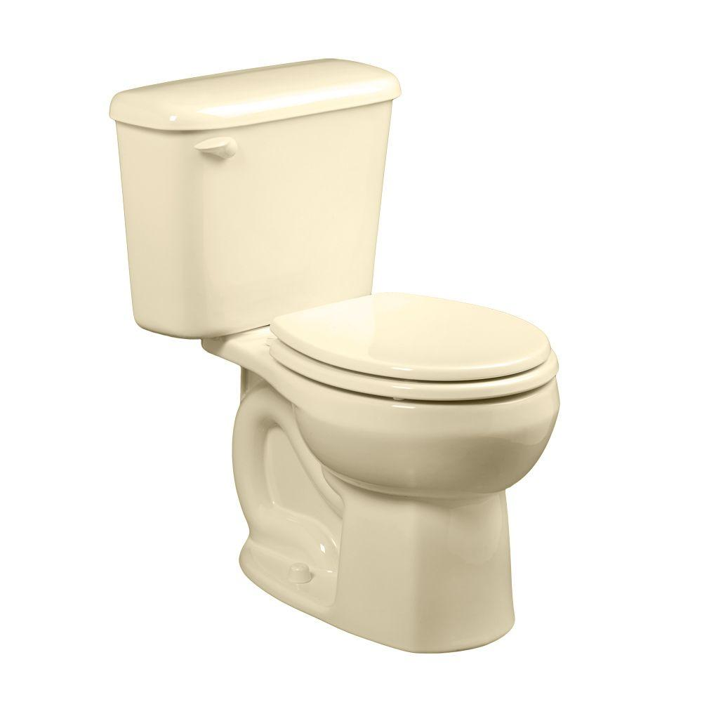 American Standard Colony 2-piece 1.6 GPF Round Toilet for 10 in. Rough in Bone