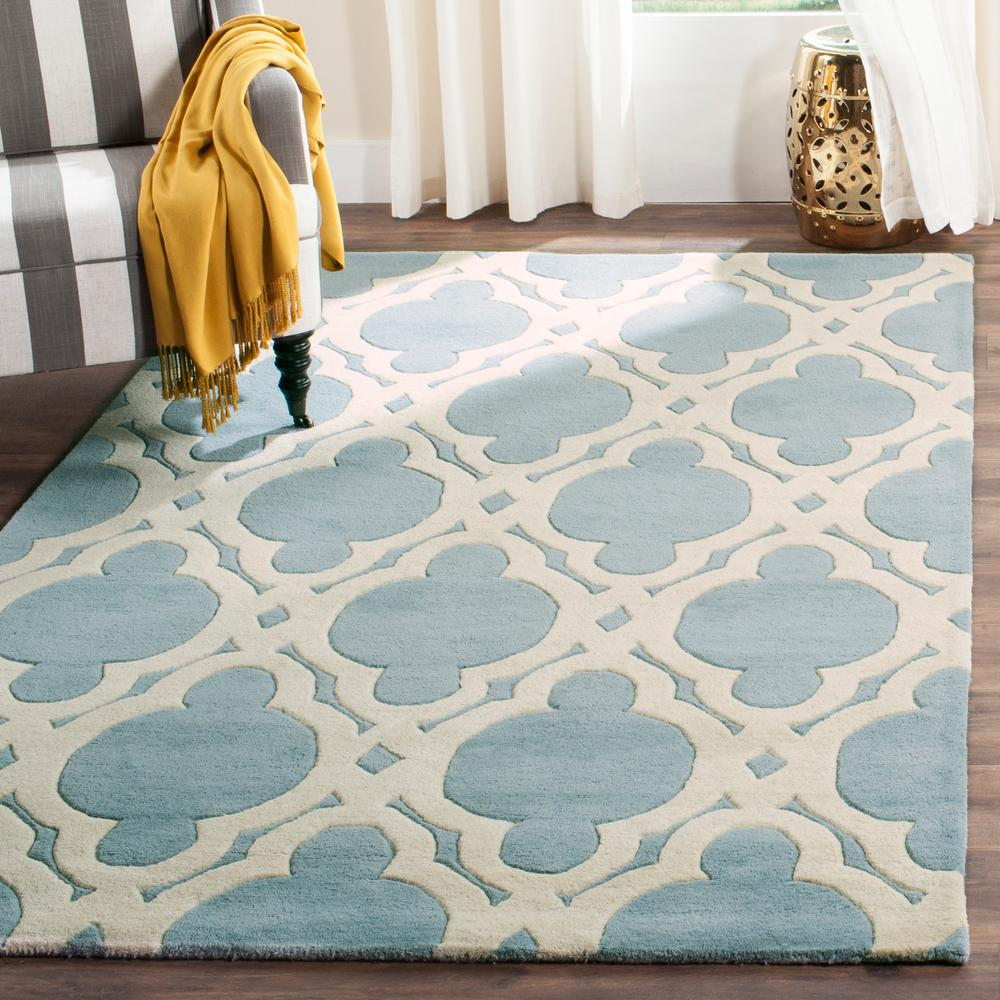 Chatham Blue/Ivory 8 ft. x 10 ft. Area Rug