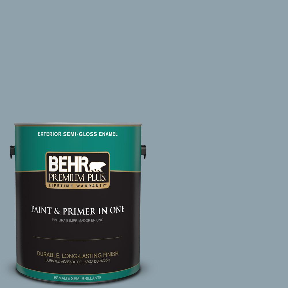 1-gal. #N480-4 French Colony Semi-Gloss Enamel Exterior Paint