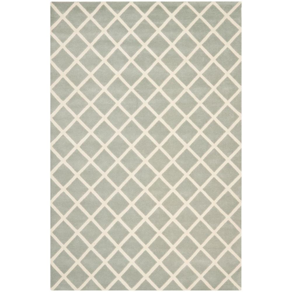 Safavieh Chatham Grey/Ivory 6 ft. x 9 ft. Area Rug