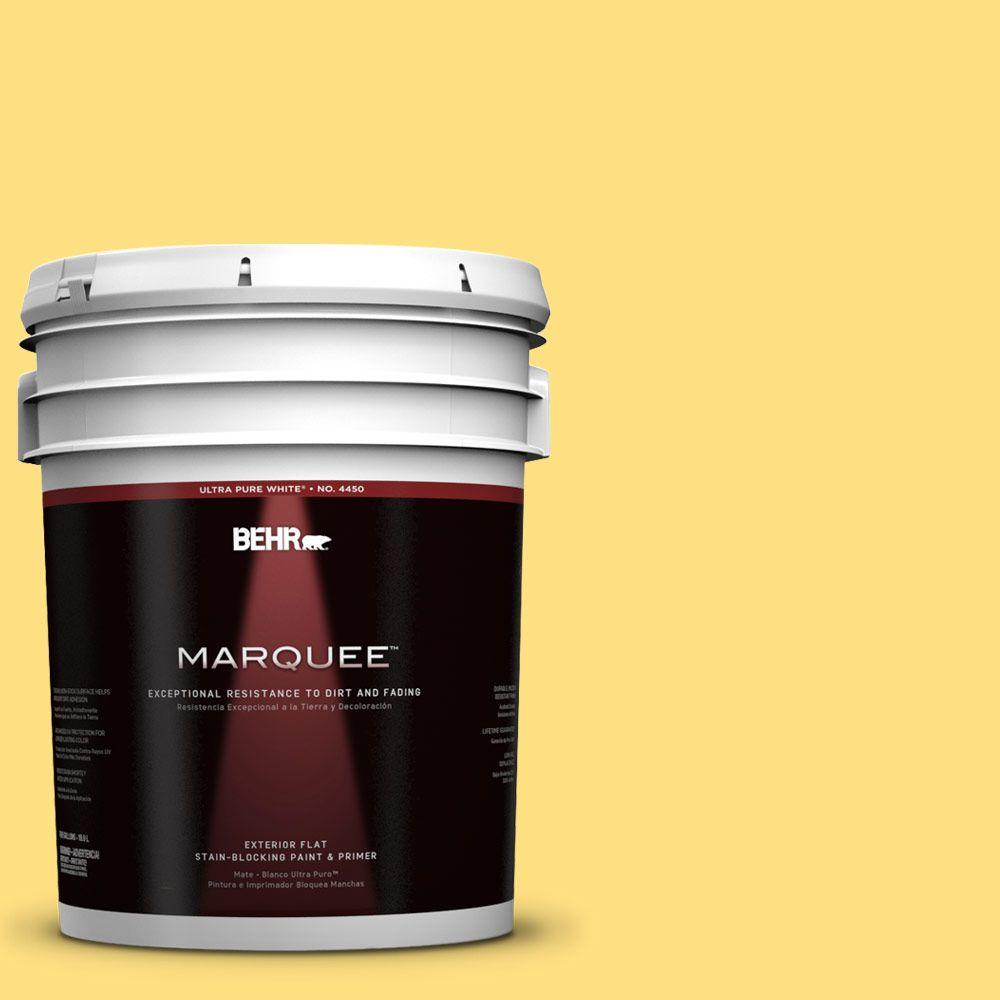 5-gal. #370B-4 June Day Flat Exterior Paint