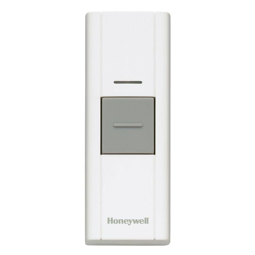 Honeywell Add-on or Replacement Push Button, White, Compatible w/Honeywell 300