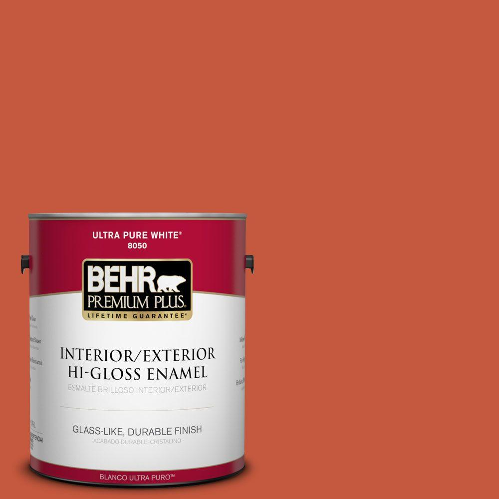 1-gal. #BIC-31 Fire Coral Hi-Gloss Enamel Interior/Exterior Paint