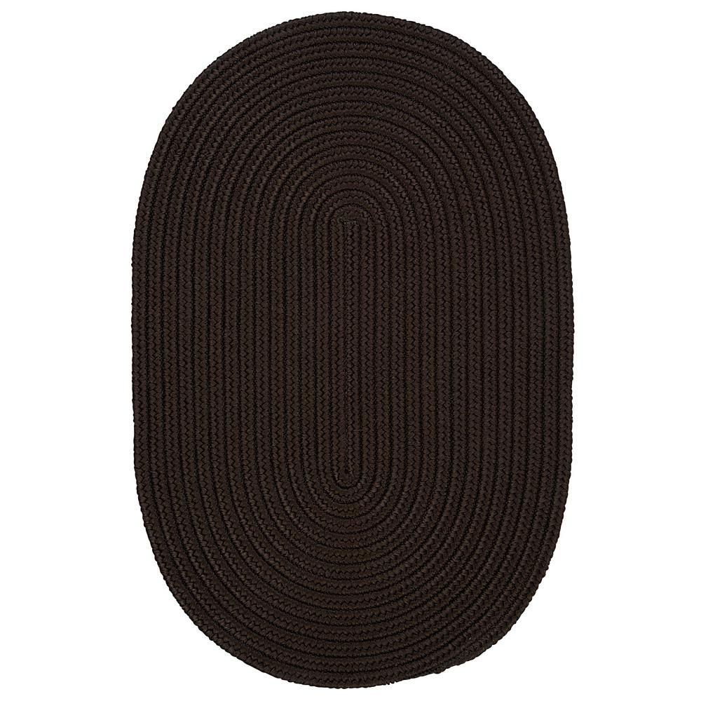 Trends Mink 5 ft. x 8 ft. Braided Oval Area Rug