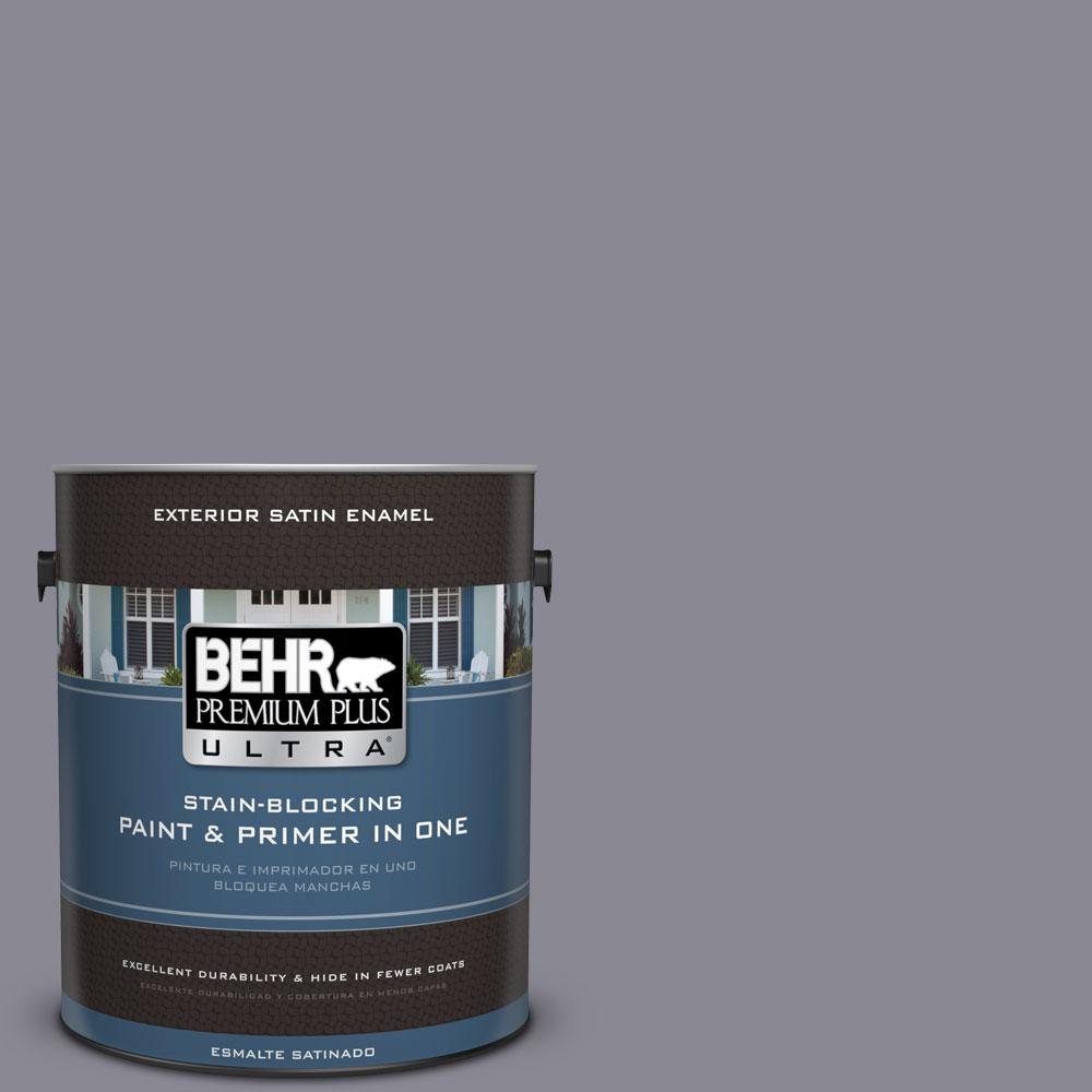 BEHR Premium Plus Ultra 1-gal. #PPU16-15 Gray Heather Satin Enamel Exterior Paint