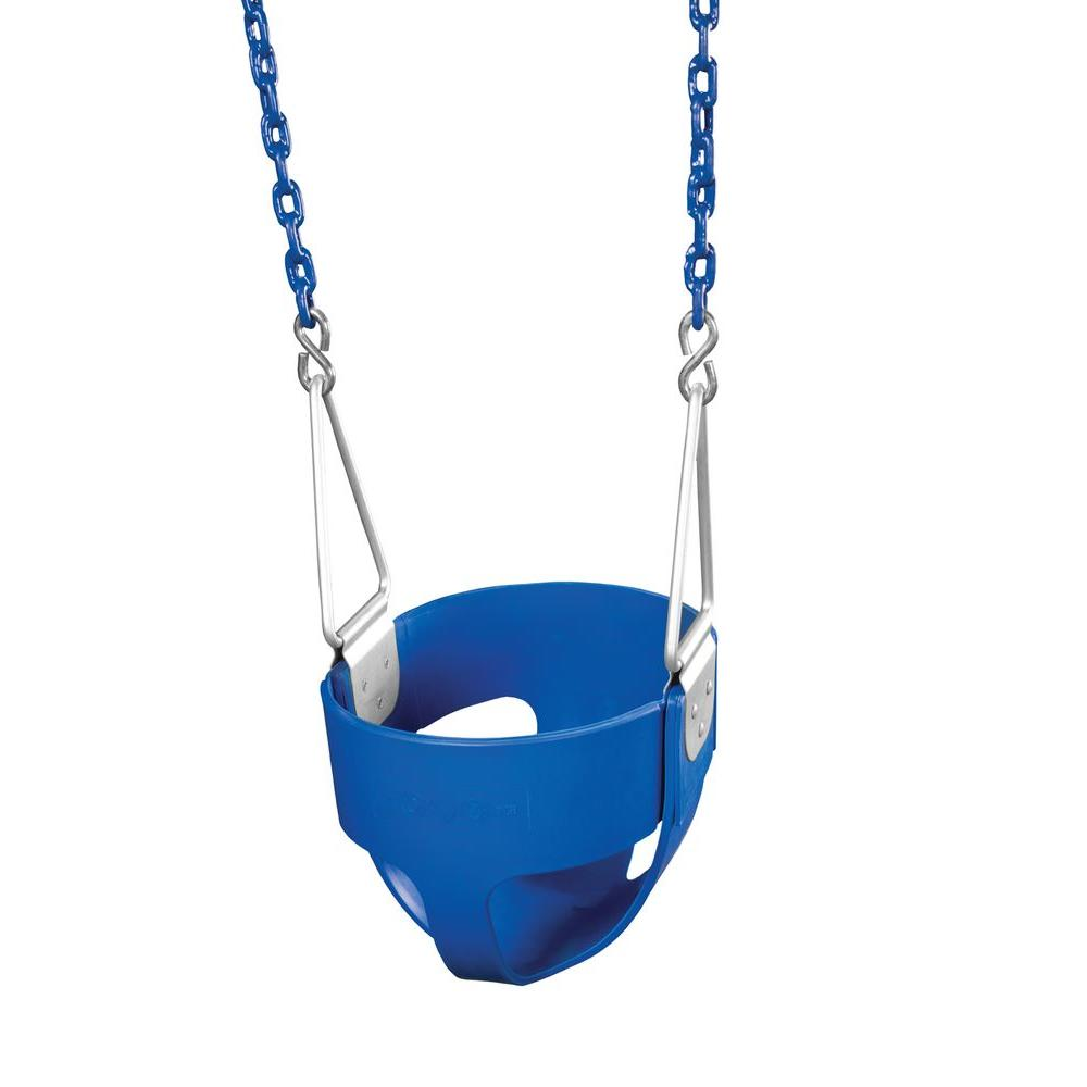 Gorilla Playsets Commercial Full-Bucket Swing Assembly (Blue)