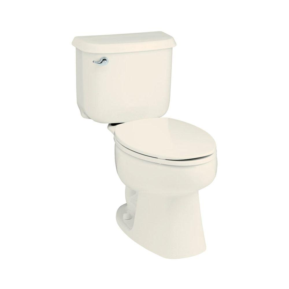 STERLING Windham 2-piece 1.6 GPF Single Flush Round Toilet in Biscuit-402015-96