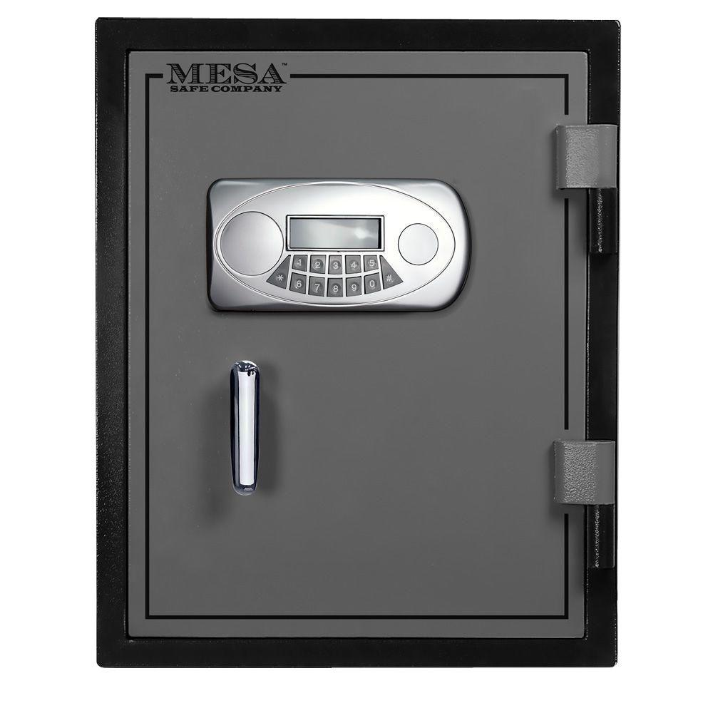 MESA 1.2 cu. ft. U.L. Classified All Steel Fire Safe with Electronic Lock in 2-Tone Black and Grey