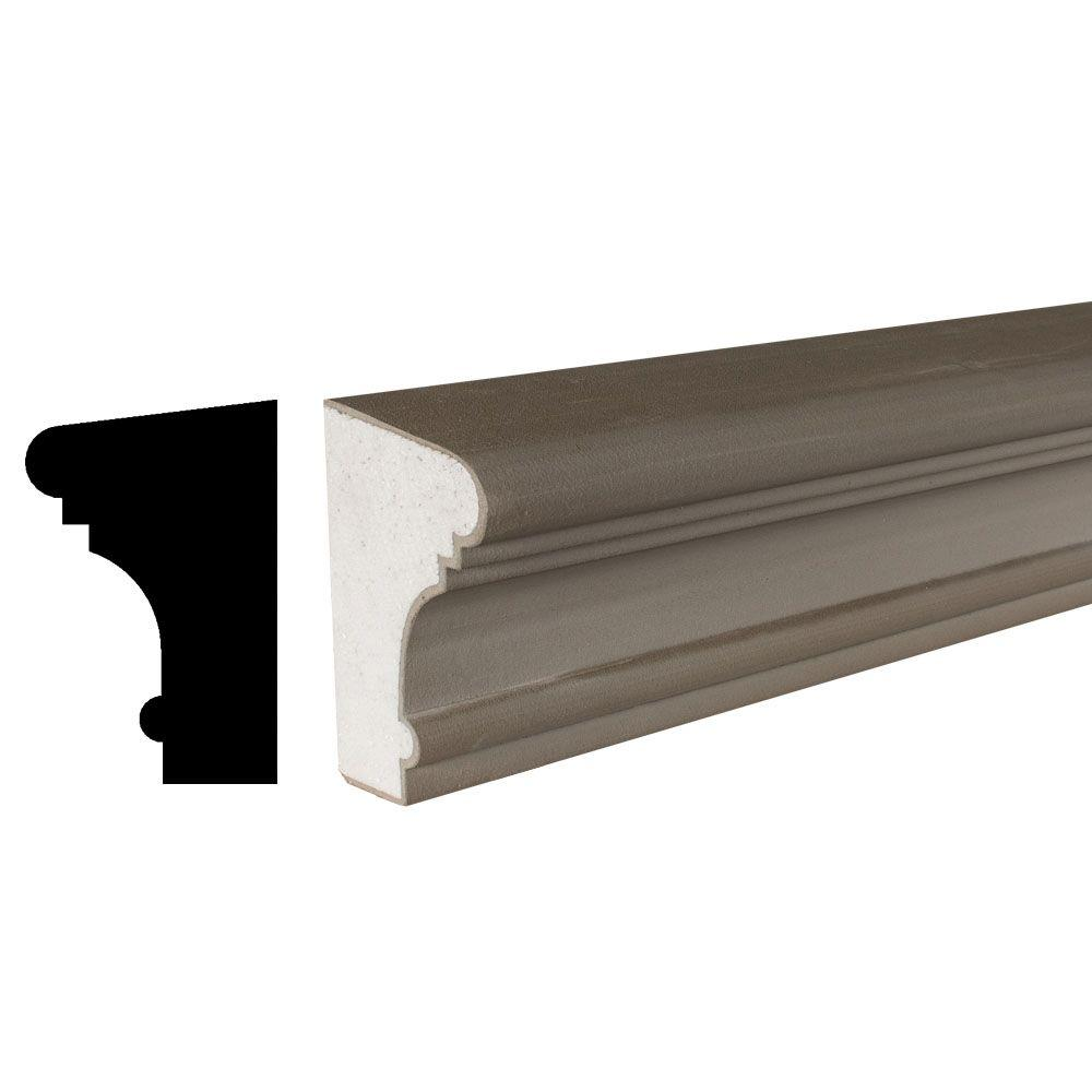 American Pro Decor Cemetrim Collection 4-1/4 in. x 6-1/4 in. x 96 in. Unfinished EPS Exterior Cement Coated Stucco Sill Moulding