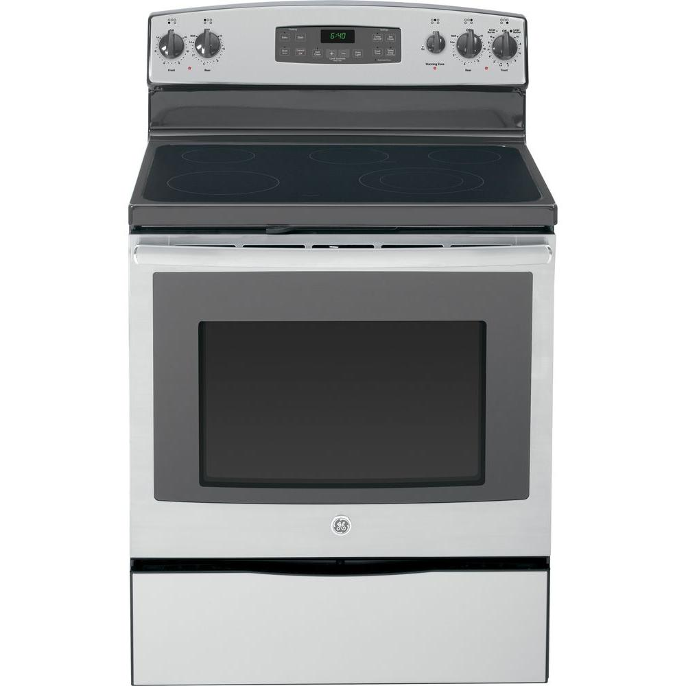 GE 5.3 cu. ft. Electric Range with Self-Cleaning Oven in Stainless Steel
