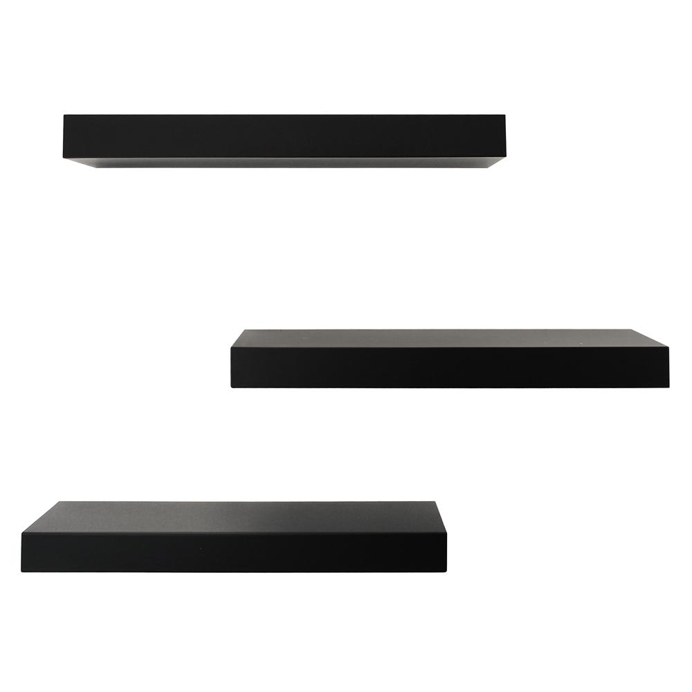Maine 16 in. W x 5 in. D Black Floating Wall