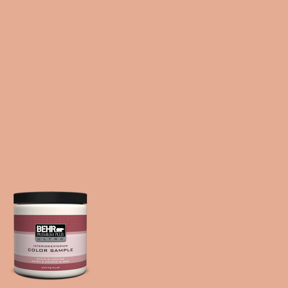 BEHR Premium Plus Ultra 8 oz. #M200-4 Coral Cloud Interior/Exterior Paint