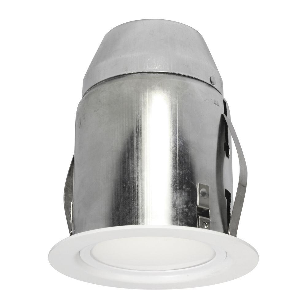 Recessed Lighting Installation Insulated Ceiling : Bazz in white recessed lighting fixture designed for