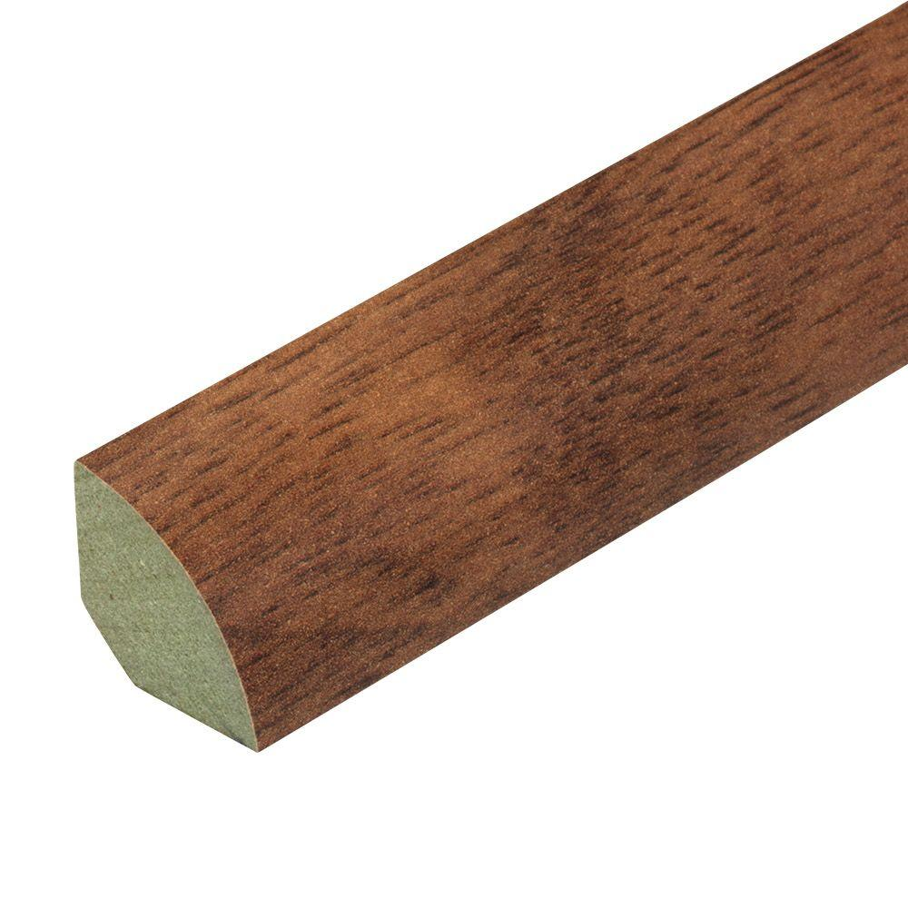 null Henna Hickory 3/4 in. Thick x 3/4 in. Wide x 94 in. Length Laminate Quarter Round Moulding