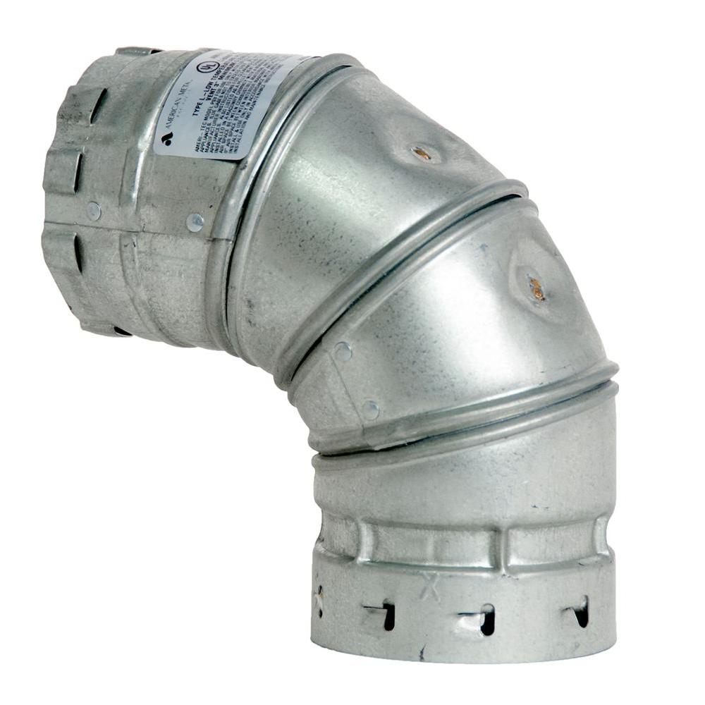 3 in. x 6 in. Stainless Steel Elbow