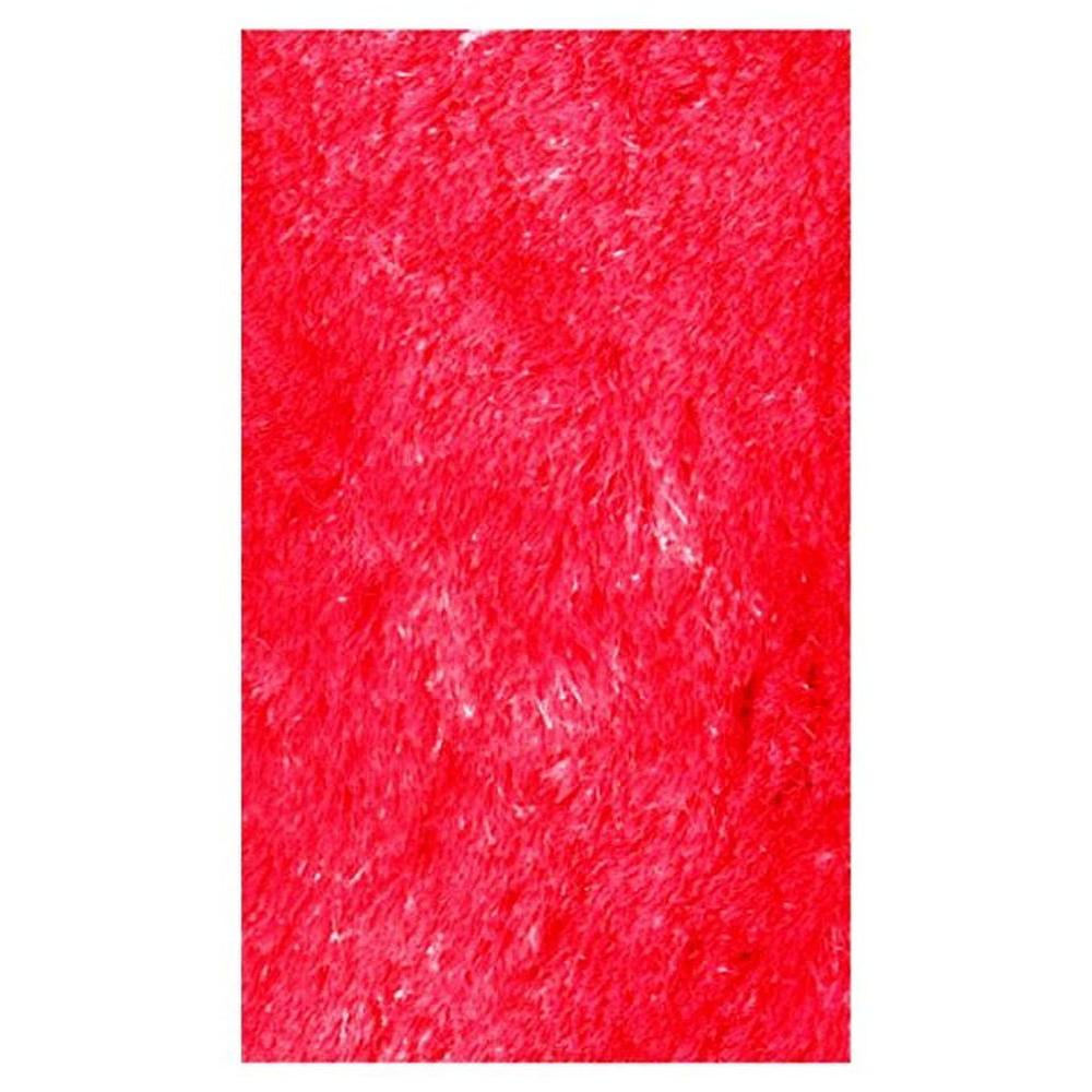 Silky Shag Red 7 ft. 3 in. x 9 ft. 10