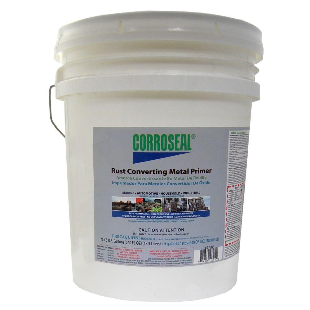 Paint Thinner, Solvents & Cleaners: Corroseal Painting Supplies 5 gal. Rust Converter Primer 82335