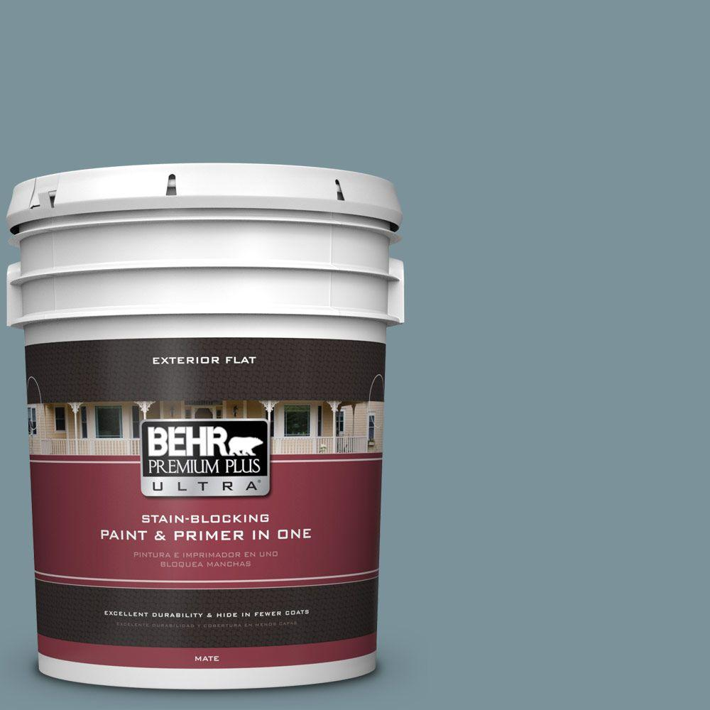 5-gal. #PMD-55 Silent Tide Flat Exterior Paint
