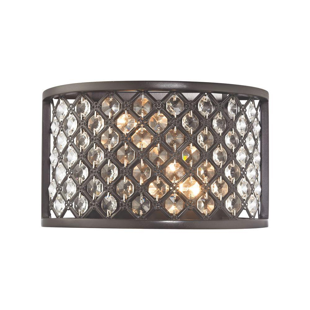 Genevieve 2-Light Oil Rubbed Bronze Wall Sconce