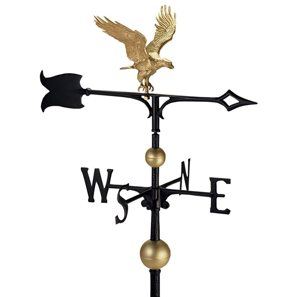 30 in. Eagle Weathervane with Globes