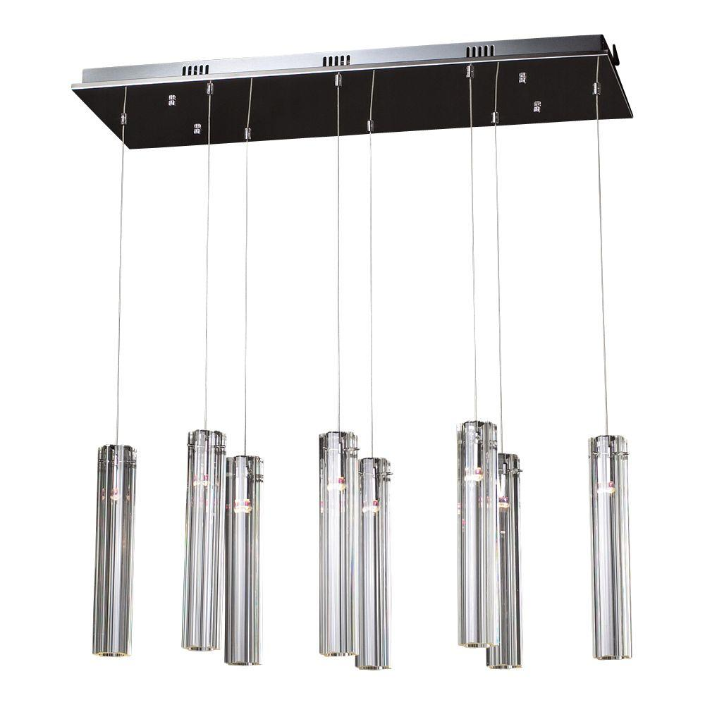 PLC Lighting 8-Light Polished Chrome Chandelier with Clear Glass