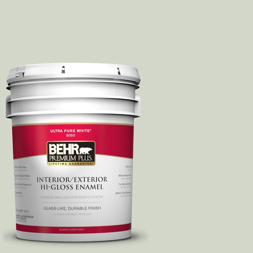 BEHR Premium Plus Home Decorators Collection 5-gal. #HDC-CT-25 Bayberry Frost Hi-Gloss Enamel Interior/Exterior Paint
