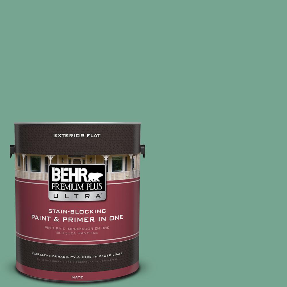 1-gal. #M420-5 Free Green Flat Exterior Paint