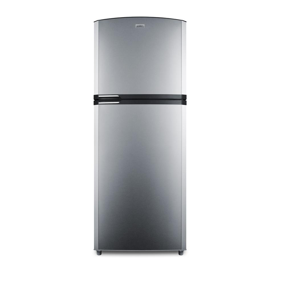 Summit 12.9 cu. ft. Top Freezer Refrigerator in Stainless...