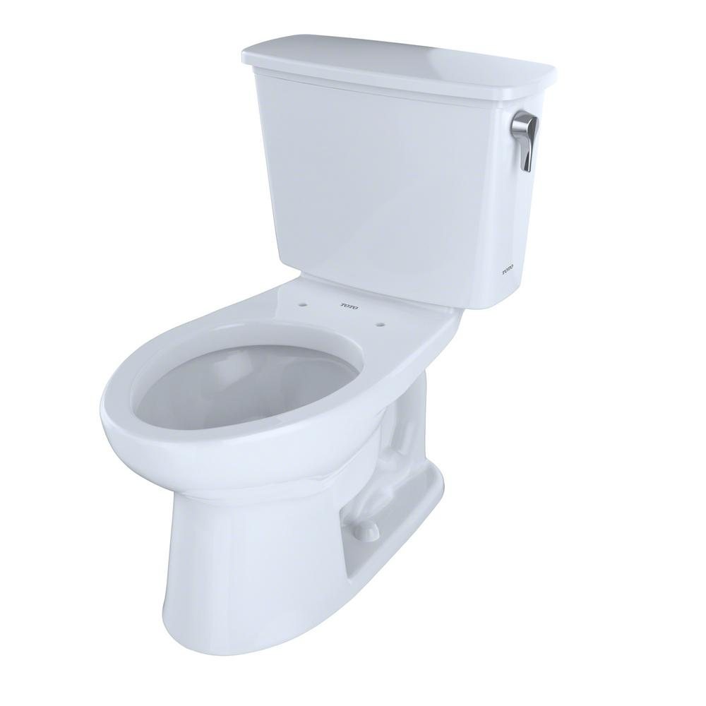 Eco Drake Transitional 2-Piece 1.28GPF Single Flush Elongated Toilet with 10in.