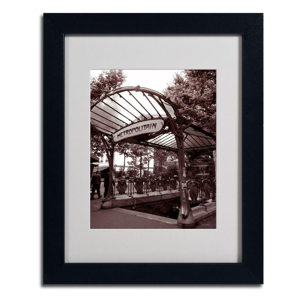 Trademark Fine Art 11 in. x 14 in. Le Metro as Art 2 Matted Framed Art
