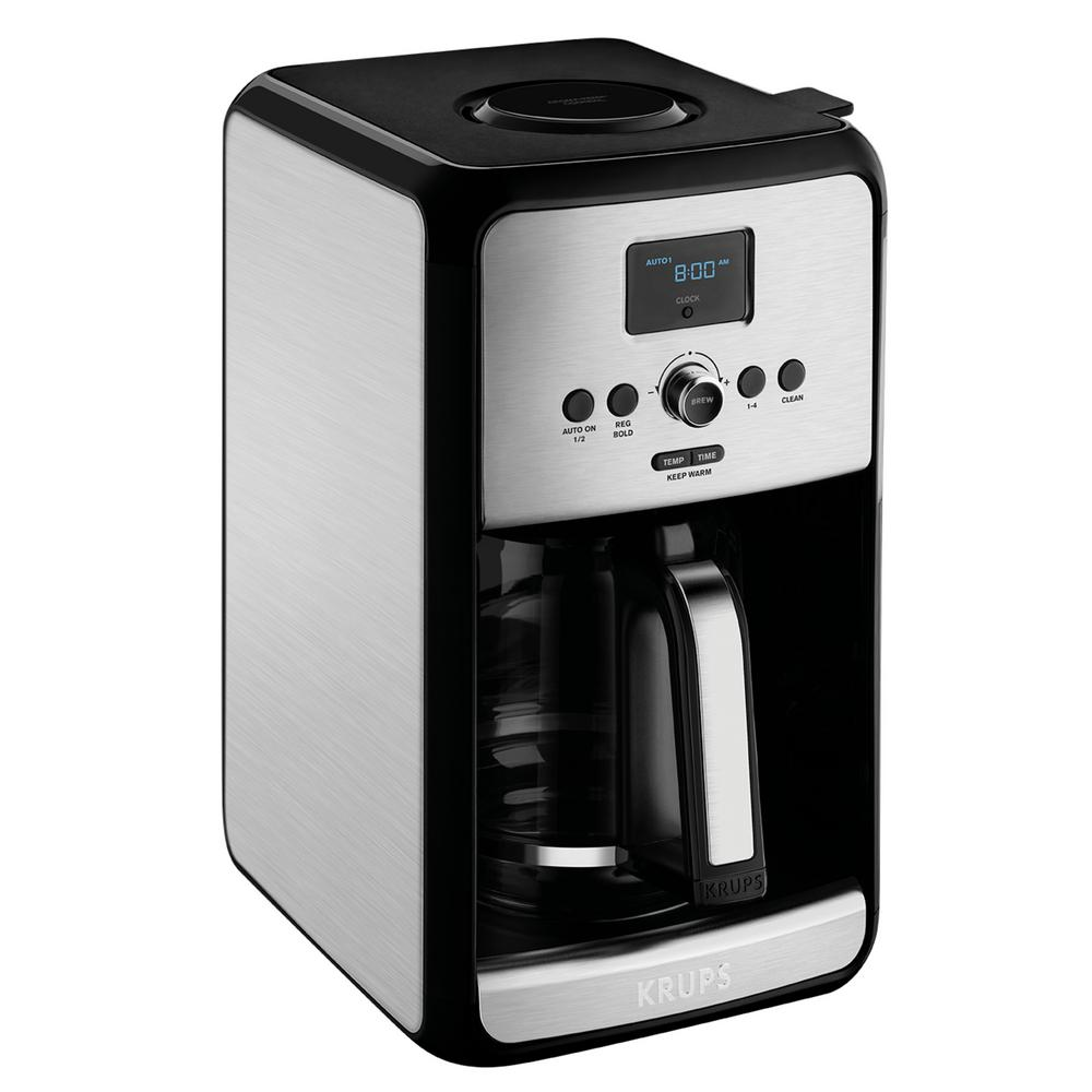 Savoy 12-Cup Programmable Coffee Maker, Stainless/Black