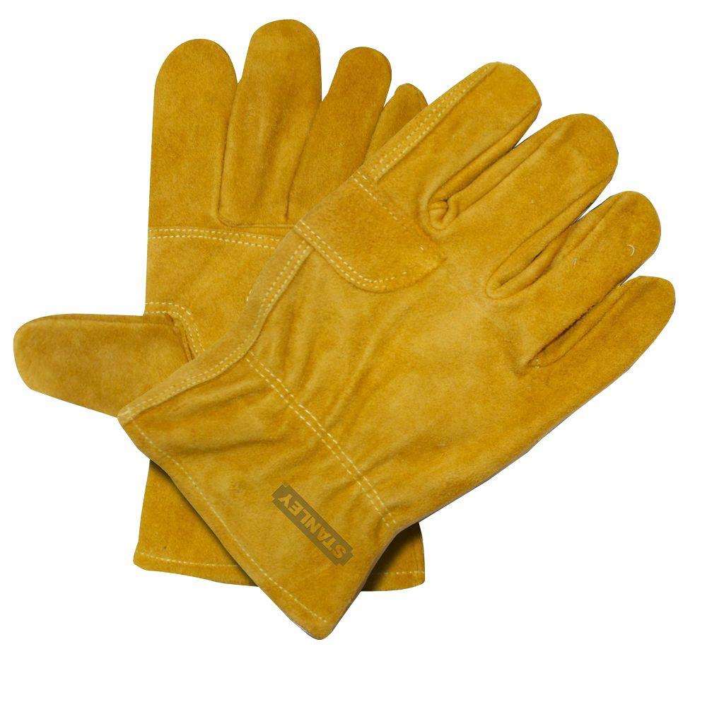 Stanley Split Cowhide Double Palm Large Driver Glove