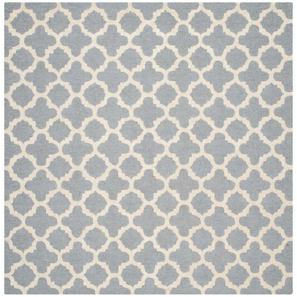 Safavieh Cambridge Silver/Ivory 6 ft. x 6 ft. Square Area Rug-CAM130D-6SQ